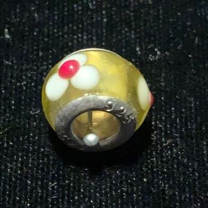 Sterling Silver Murano glass bead Vintage